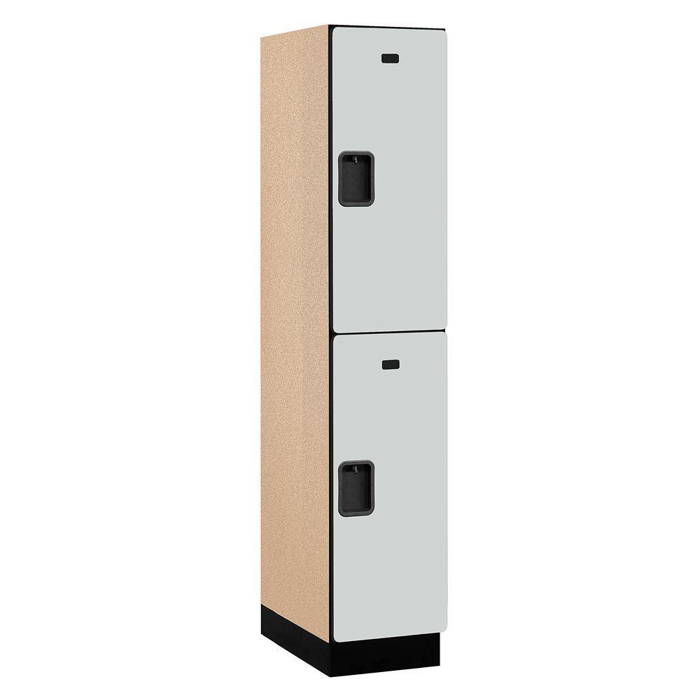 22000 Series 2-Tier Wood Extra Wide Designer Locker in Gray -