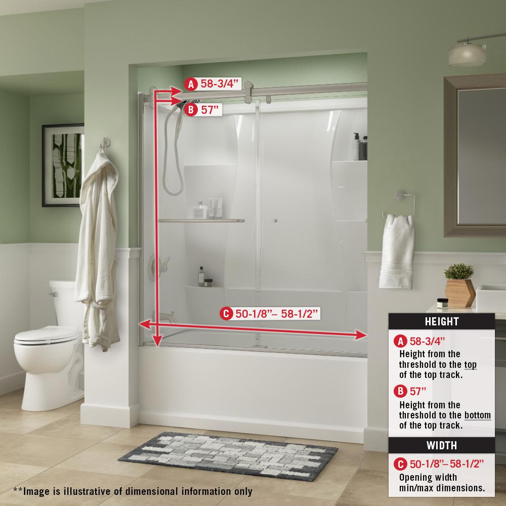 How To Install A Basic Sliding Tub Shower Door
