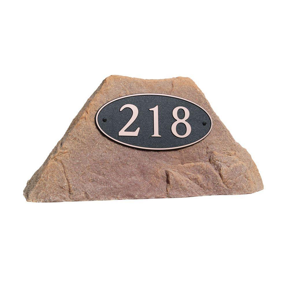 Dekorra 24 in. L x 12 in. W x 12 in. H Small Plastic Rock Cover in Orange/Burgundy
