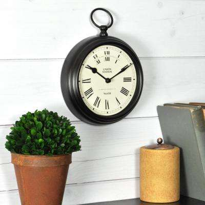 9 in. x 7 in. Station Pocket Tabletop Clock