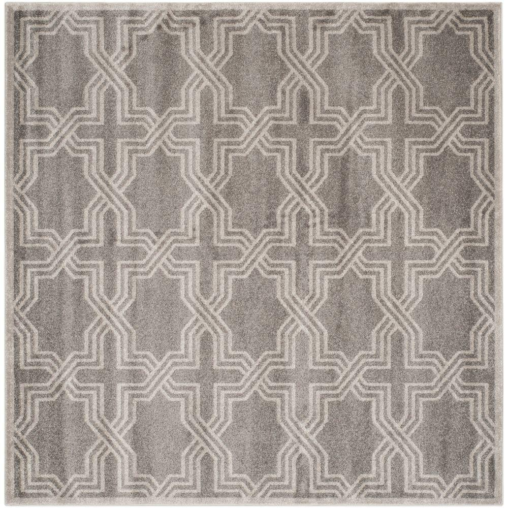 Indoor Outdoor Rugs Square: Safavieh Amherst Gray/Light Gray 7 Ft. X 7 Ft. Indoor