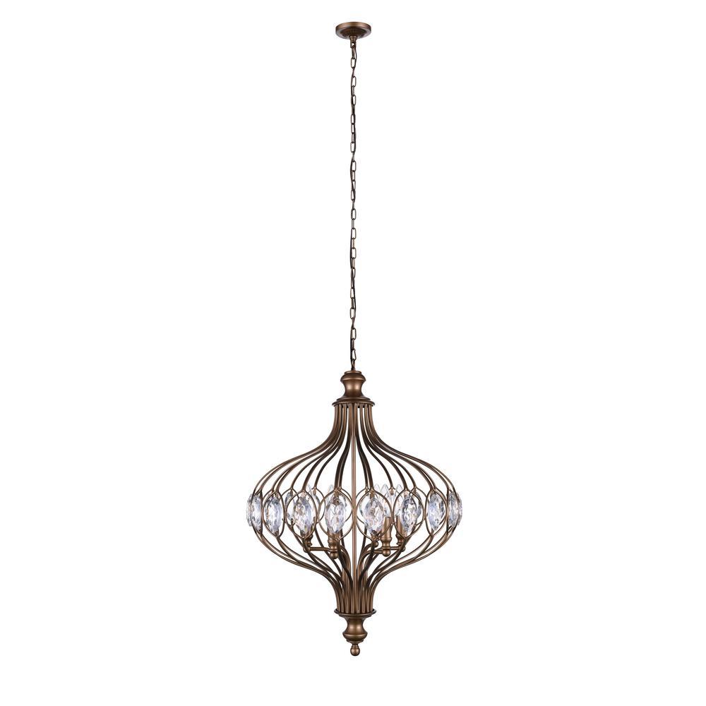 Altair 3-Light Antique Bronze Pendant
