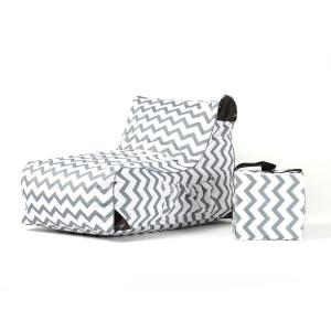 HomeDepot.com deals on OVE Decors Paola Chevrons Sling Outdoor Chaise Lounge