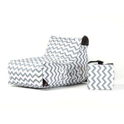Paola Chevrons Sling Outdoor Chaise Lounge
