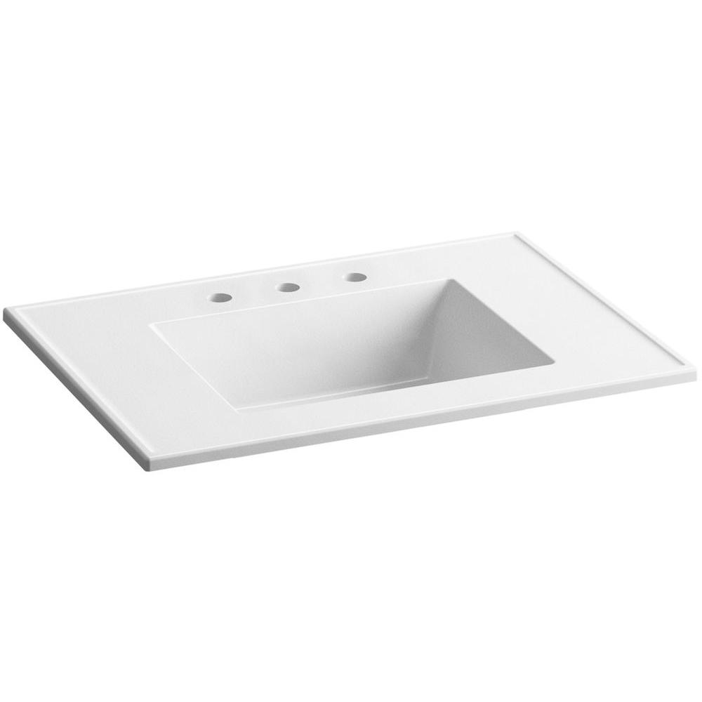 Kohler Ceramic Impressions 25 In Vitreous China Vanity Top With Basin White