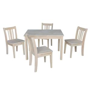 Peachy International Concepts Unfinished Solid Wood Kids Table Creativecarmelina Interior Chair Design Creativecarmelinacom