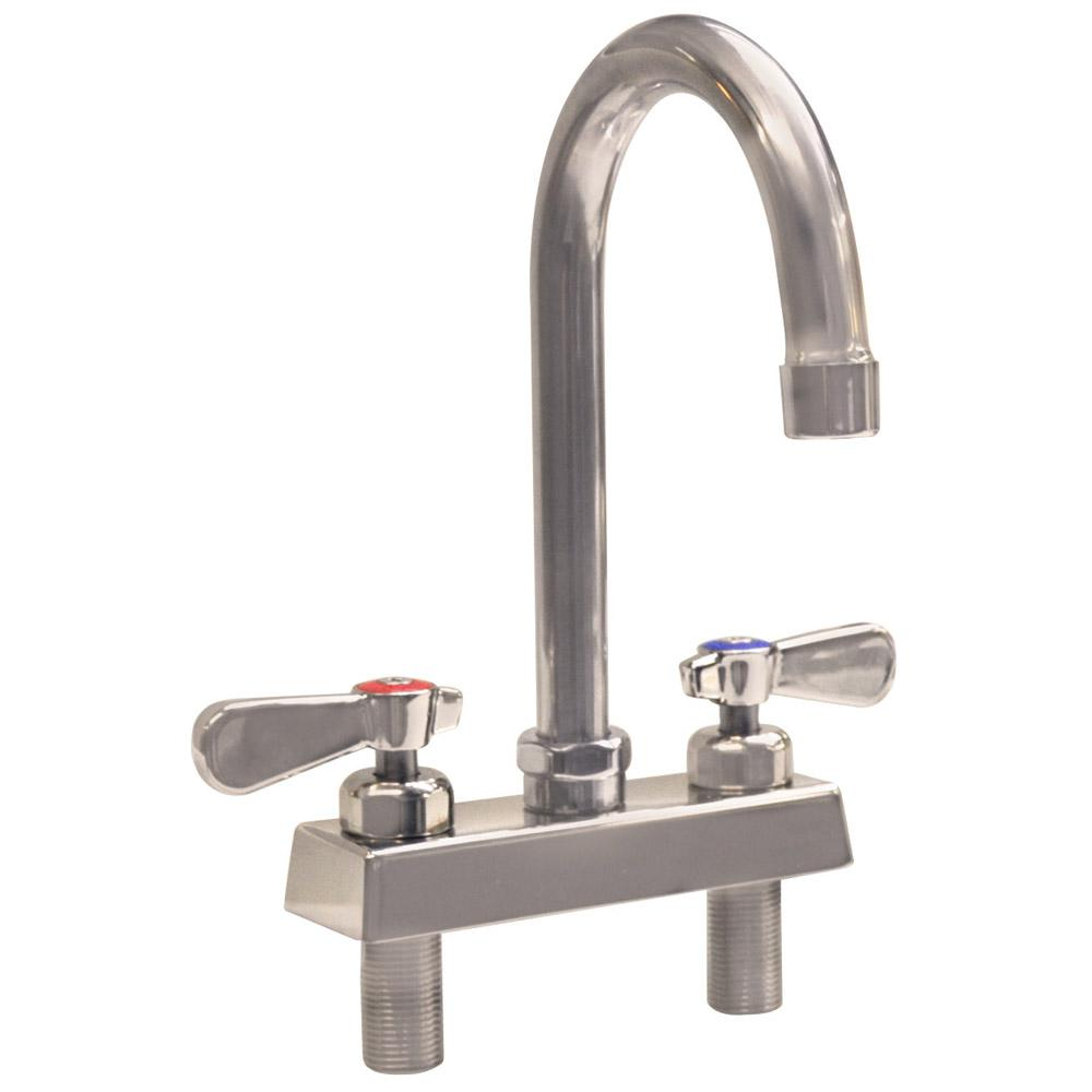 Evolution 2-Handle Faucet, Ceramic Cartridges with Check Valves in Stainless
