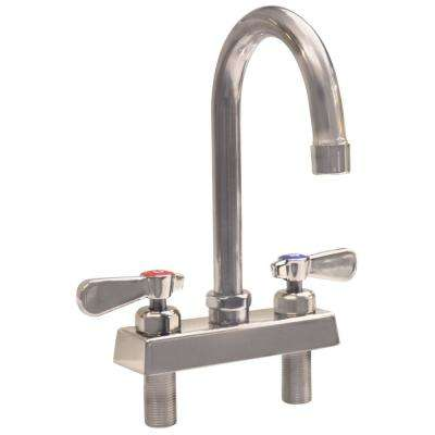Evolution 2-Handle Faucet, Ceramic Cartridges with Check Valves in Stainless Steel