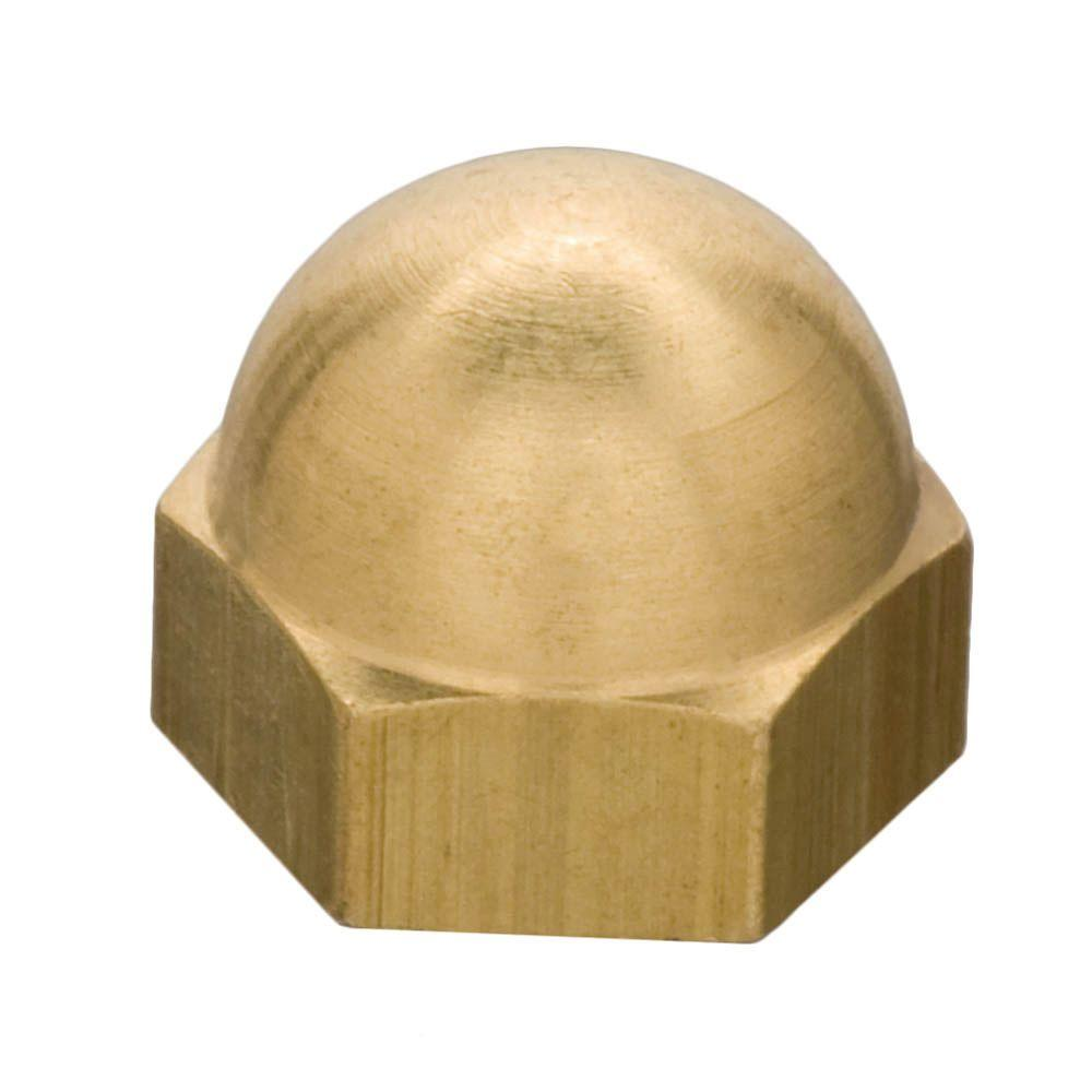 Everbilt 10 32 Tpi Solid Brass Fine Nut Cap 808788 The
