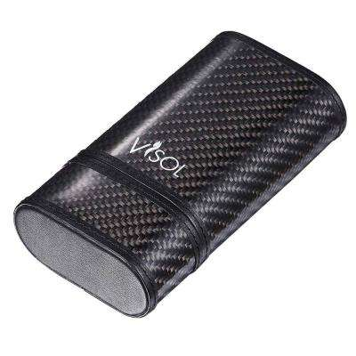 Trinity Black Carbon Fiber Holds 3-Cigar Case