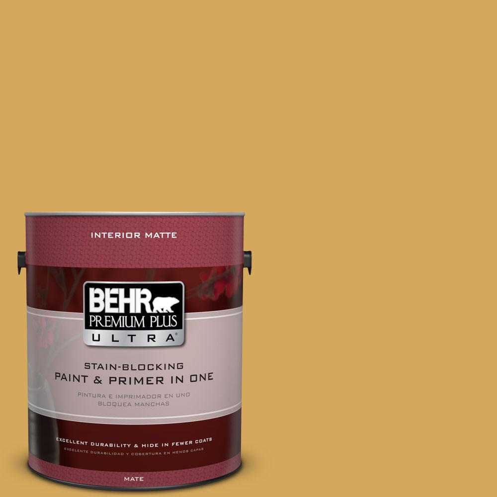 1 gal. #340D-5 Galley Gold Flat/Matte Interior Paint