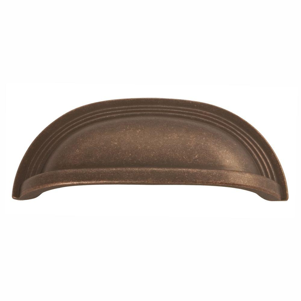 Hickory Hardware Deco 96 mm Dark Antique Copper Cup Pull - Hickory Hardware Deco 96 Mm Dark Antique Copper Cup Pull-P3104-DAC