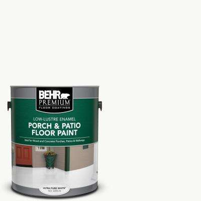 1 gal. Ultra Pure White Solid Color Low-Lustre Enamel Interior/Exterior Porch and Patio Floor Paint