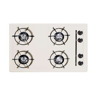 30 in. Gas Cooktop in Bisque with 4 Burners