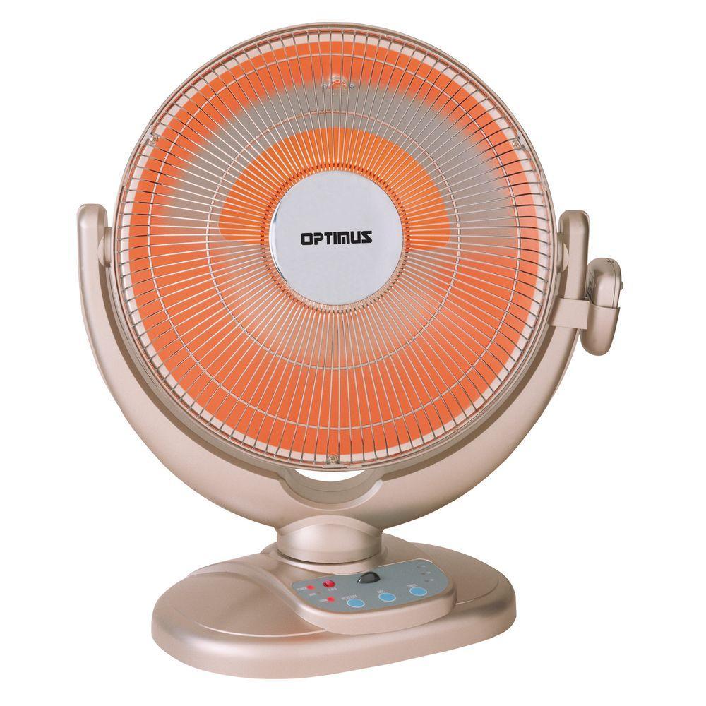 Optimus 14 in. Oscillating Pedestal Digital Dish Heater with Remote Control