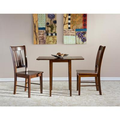 3-Piece Espresso Dining Set