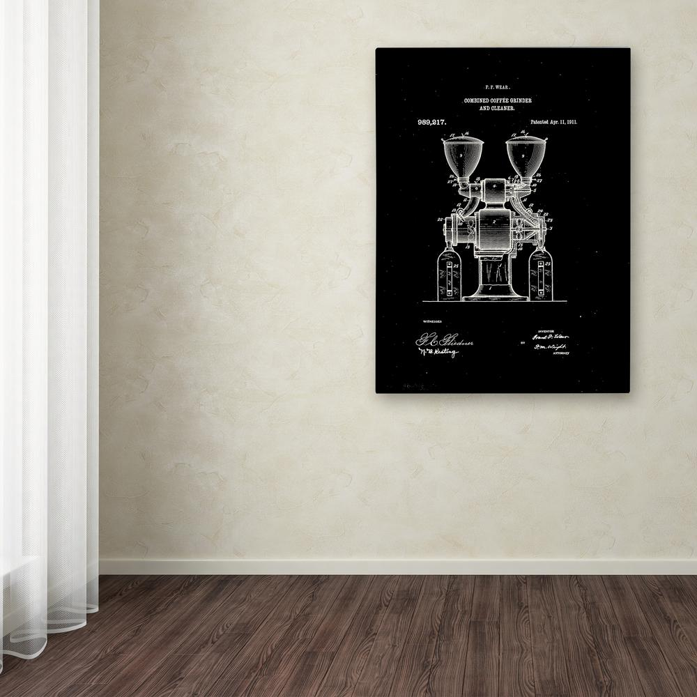 """Trademark 24 in. x 18 in. """"Coffee Grinder Patent 1911"""" by..."""