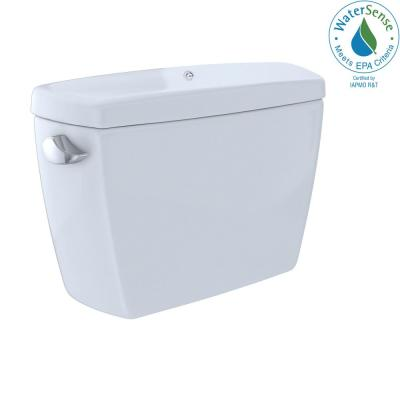 Drake 1.28 GPF Single Flush Insulated Toilet Tank Only with Bolt Down Lid in Cotton White