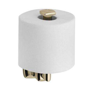 Margaux Vertical Toilet Paper holder in Vibrant French Gold