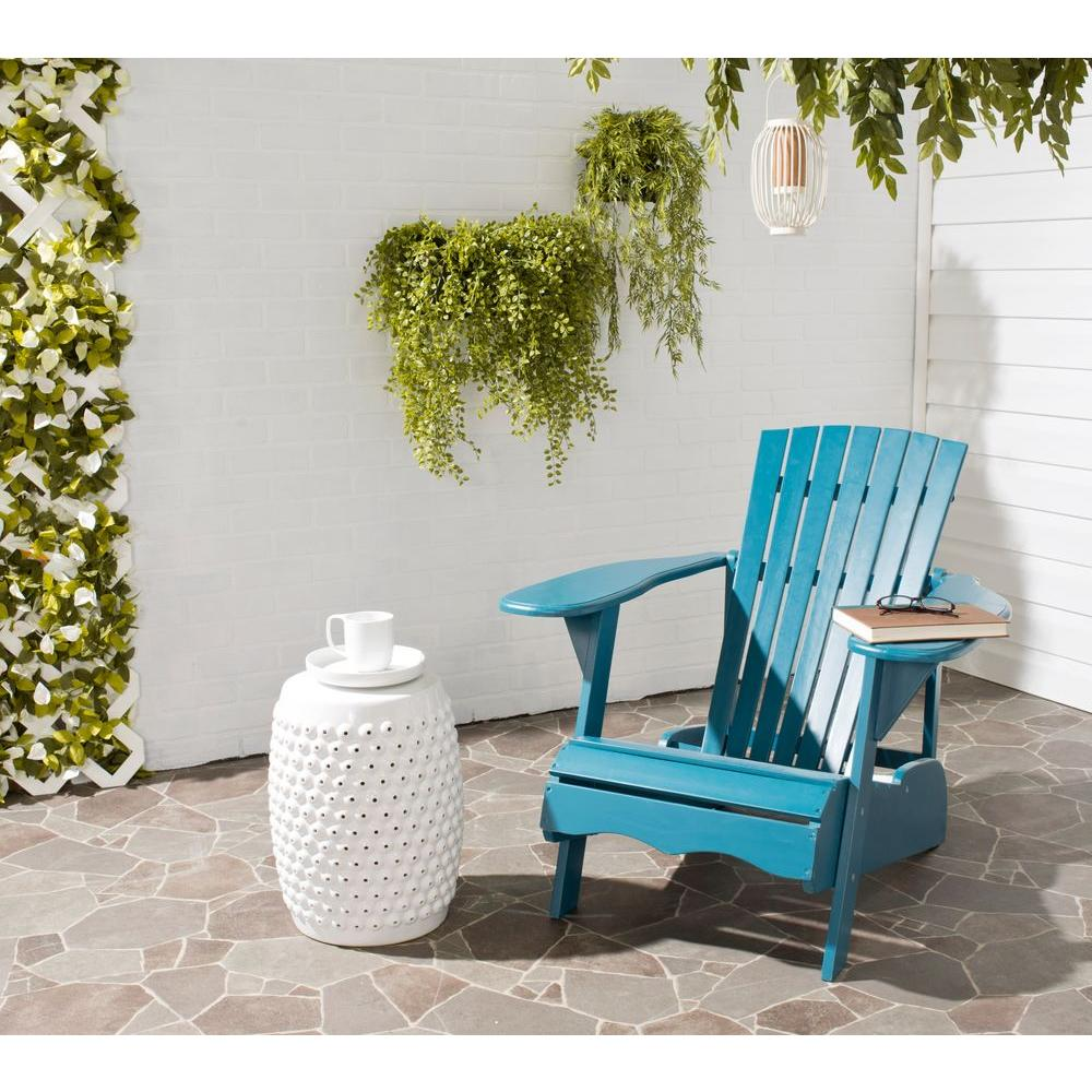Safavieh Mopani Teal Outdoor Patio Adirondack Chair