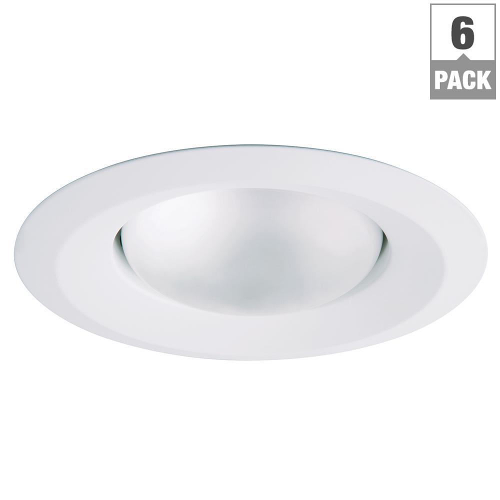Halo e26 series 5 in white recessed ceiling light trim with self white recessed ceiling light trim with self flanged splay mozeypictures Choice Image