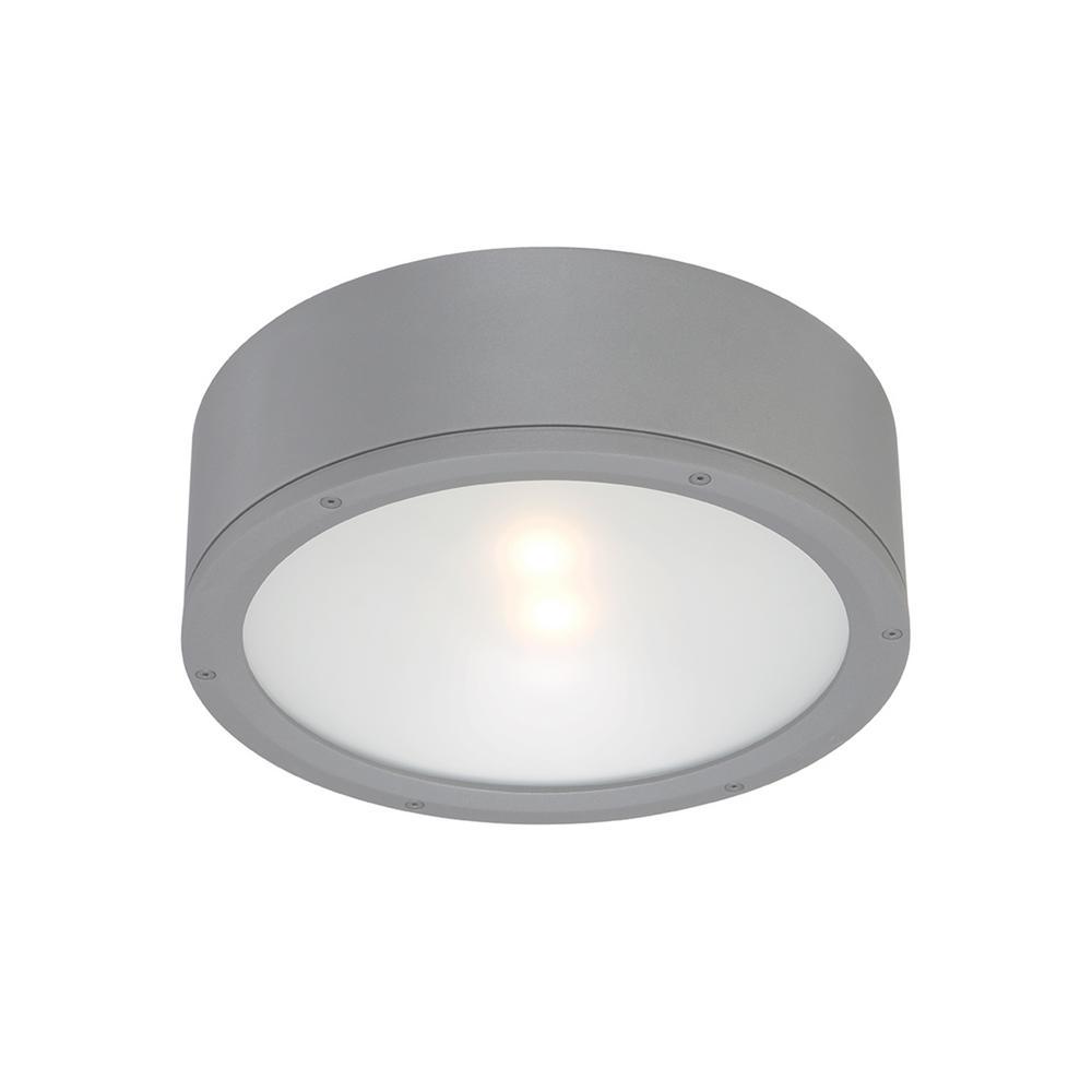 Tube 12 in. 1-Light Graphite ENERGY STAR LED Indoor or Outdoor Flush Mount