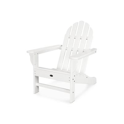 Cape Cod All-Weather Classic White Plastic Adirondack Chair