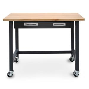 Ultragraphite Wood Top Workbench on Wheels