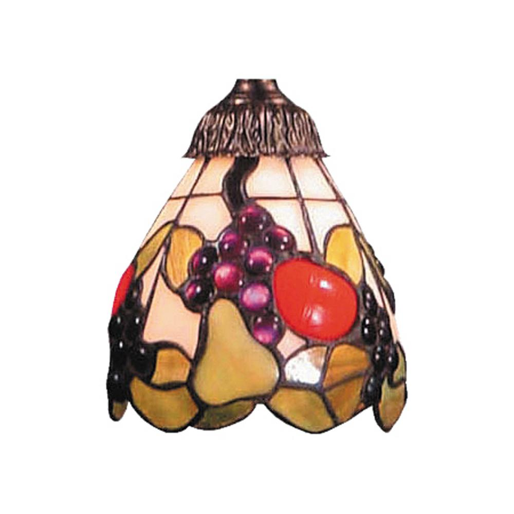 Titan Lighting Mix-N-Match 1-Light Fruit Tiffany Glass Shade