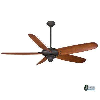 Indoor Oil Rubbed Bronze Ceiling Fan With Remote Control