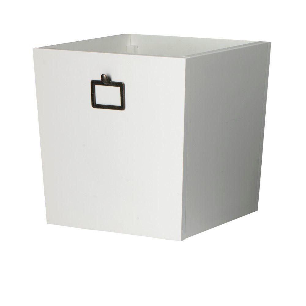 Martha Stewart Living Solutions 11-Gal. Storage Bin in White