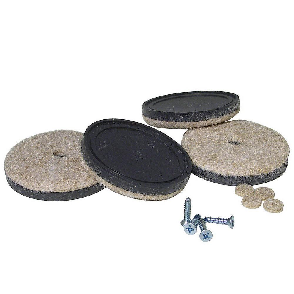 Richelieu Hardware 1 7 8 In Screw On Felt Pads 4 Pack 23093 The Home Depot