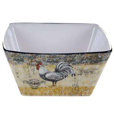 Vintage Rooster Collection Deep 10.25 in. x 4.75 in. Serving Bowl