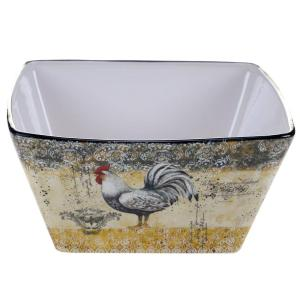 Vintage Rooster Collection Deep 10.25 inch x 4.75 inch Serving Bowl by