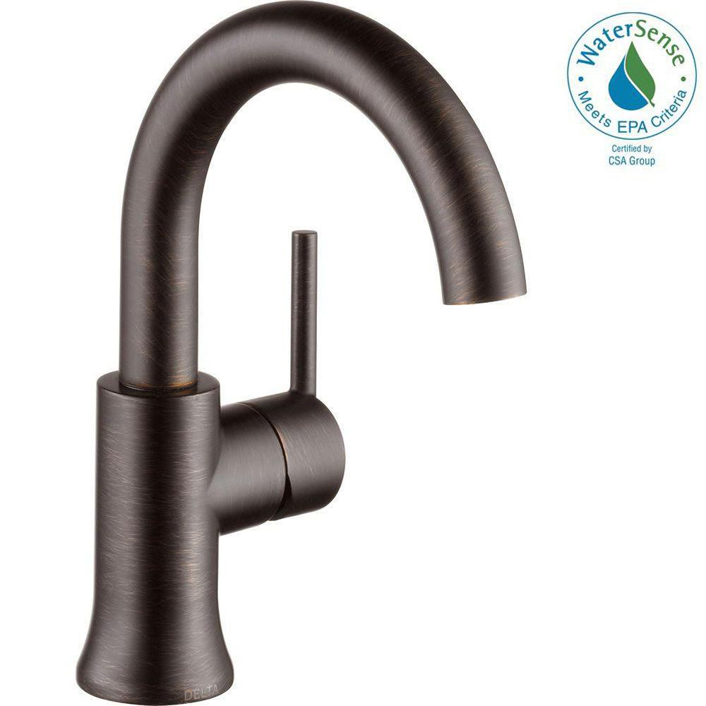 Delta trinsic single hole handle bathroom faucet