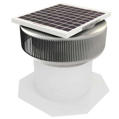 740 CFM Mill Finish 10-Watt Solar Powered 12 in. Dia Retrofit Attic Roof Fan