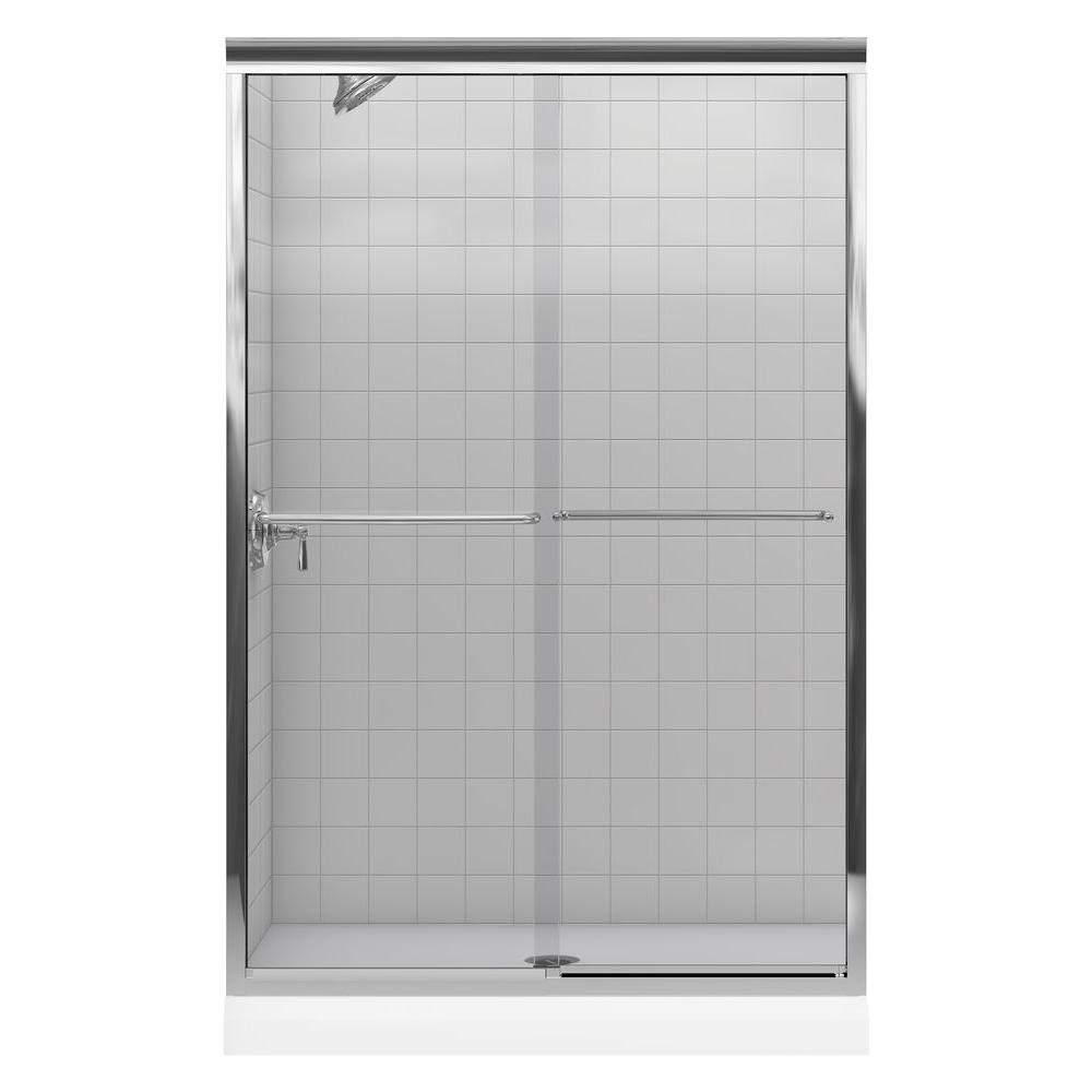Fluence 43 in. x 70 in. Semi-Frameless Sliding Shower Door in