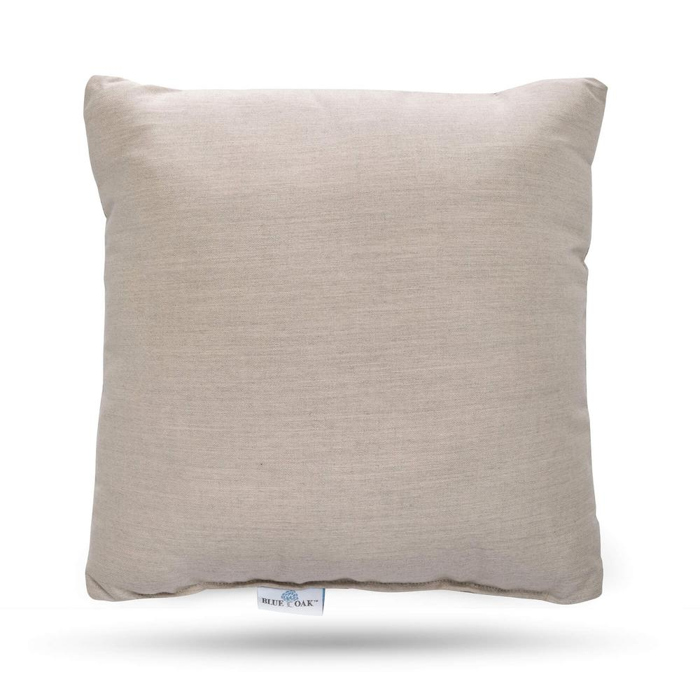Outdura Remy Sand Square Outdoor Throw Pillow (2-Pack)