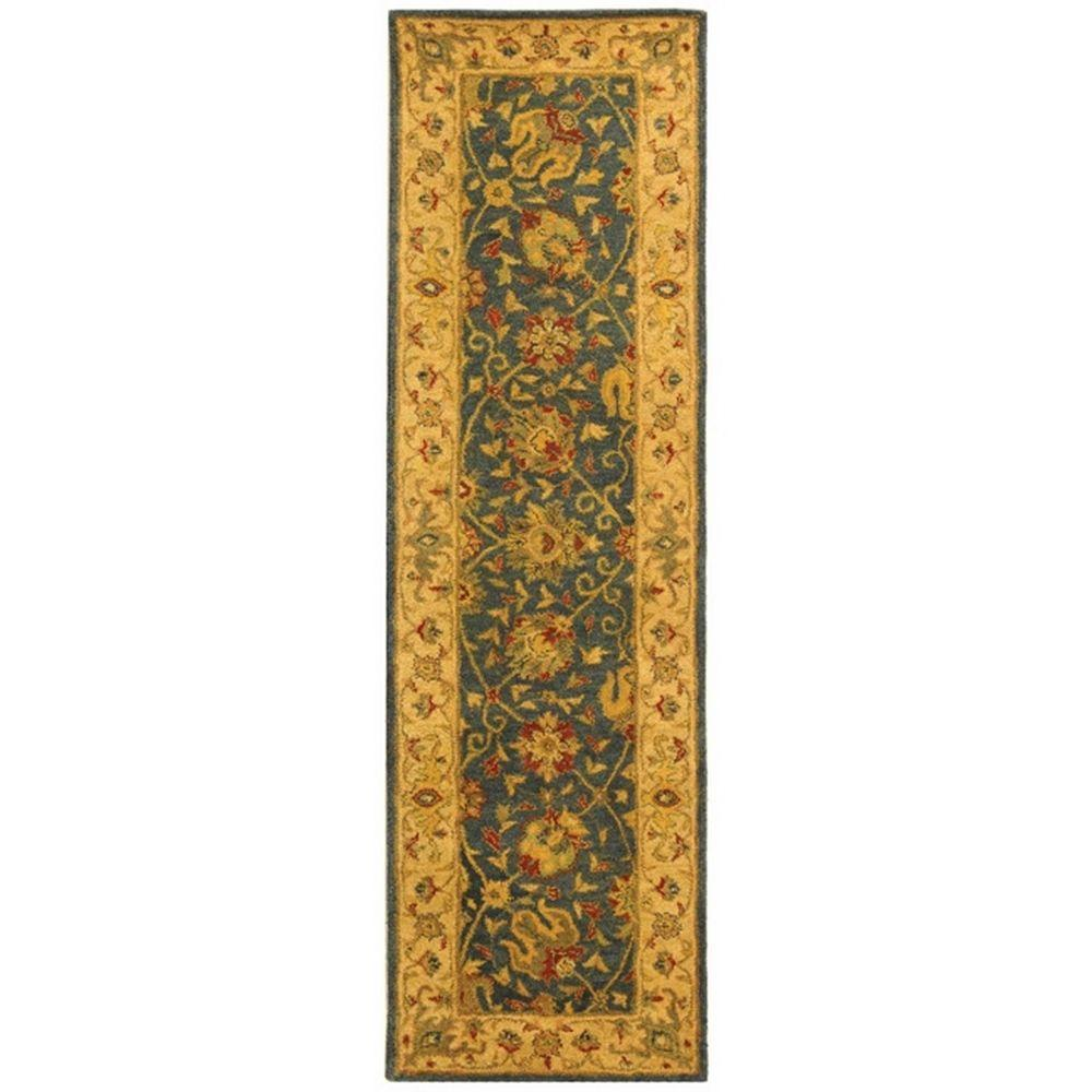 Safavieh Antiquity Blue 2 Ft X 10 Ft Runner Rug At21e
