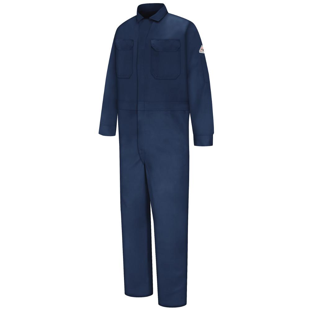 4de35bc4b330 Bulwark EXCEL FR Men s Size 50 Navy Deluxe Coverall-CED2NV RG 50 - The Home  Depot