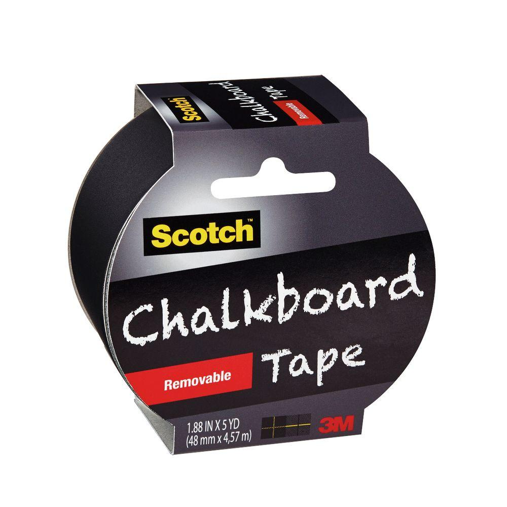 Scotch 1.88 in. x 5 yds. Removable Chalkboard Tape