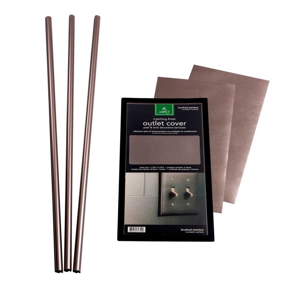 25 in. x 7 in. Stainless Backsplash Accessory Kit