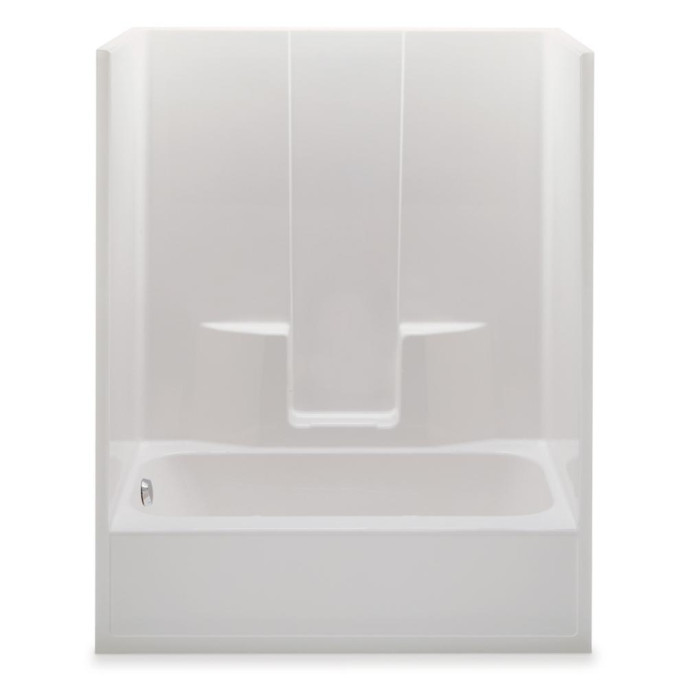Aquatic Everyday 60 in. x 34.5 in. x 76.5 in. 1-Piece Bath and ...