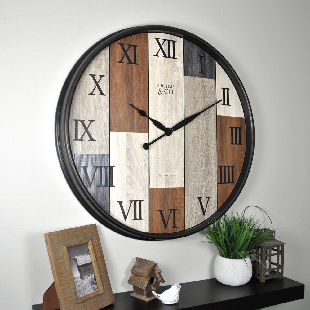 Timberline Natural Wood Wall Clock