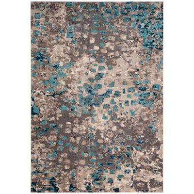 Monaco Gray Light Blue 5 Ft 1 In X 7