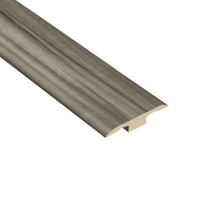 Acacia Smoke 1/4 in. Thick x 1-3/8 in. Wide x 94-1/2 in. Length Vinyl T-Molding