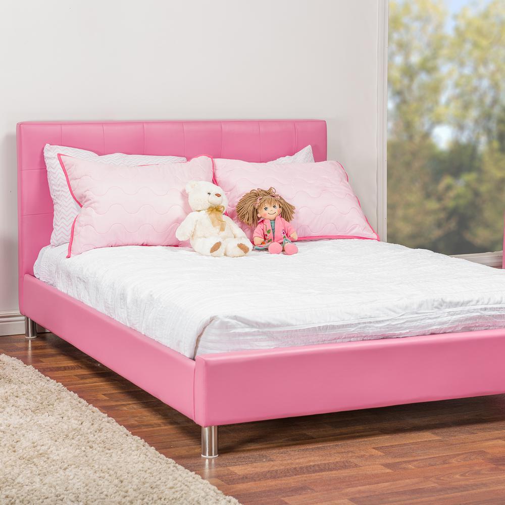 Baxton Studio Barbara Pink Full Upholstered Bed 28862-6047-HD