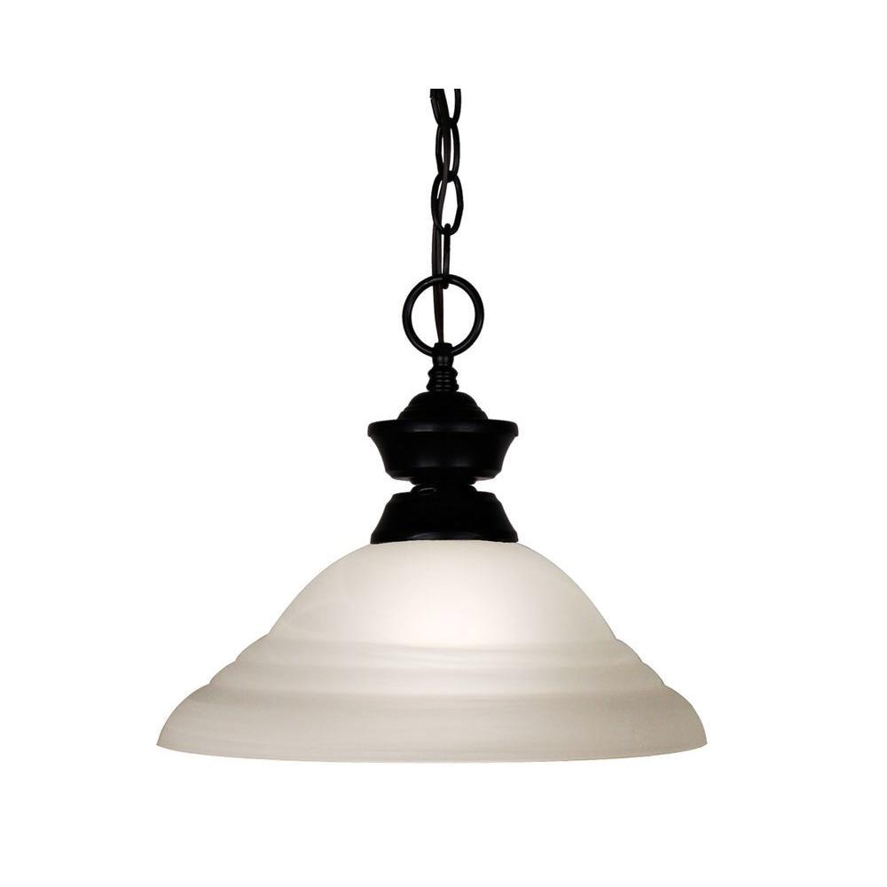 Tulen Lawrence 1-Light Matte Black Incandescent Ceiling Pendant