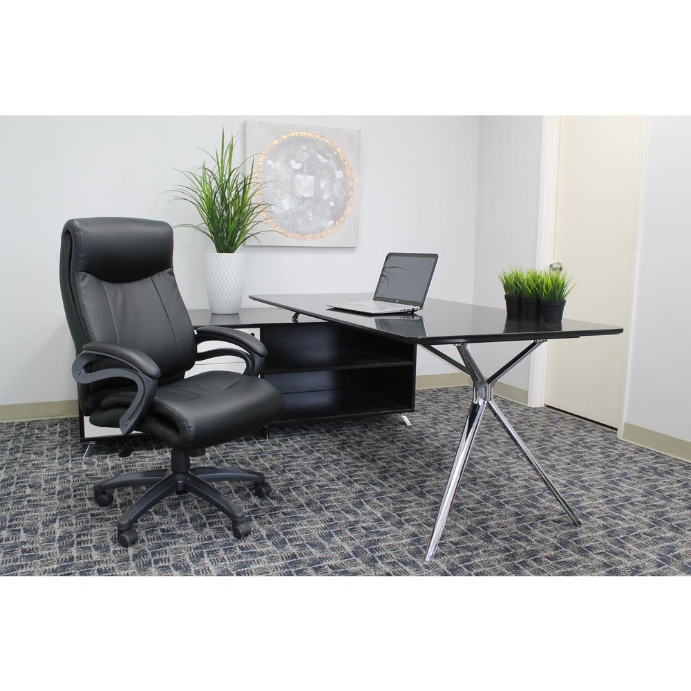 Boss Black Double Layer Executive Chair
