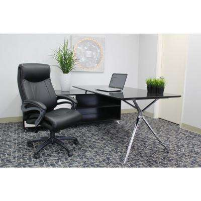 Black Double Layer Executive Chair